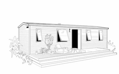 OHARA 1064 côté Jardin – Mobil home Neuf – 3 chambres – Collection 2022