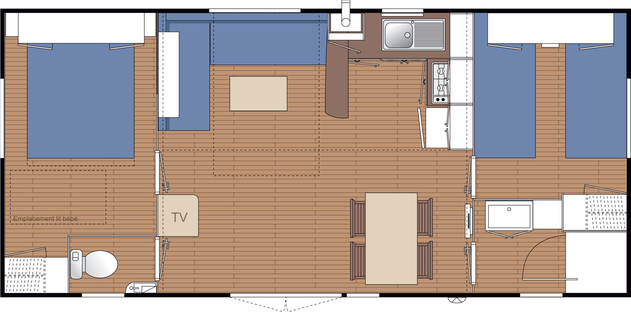 Ohara 8.34 - 2006 - Mobil home d'Occasion - Zen Mobil homes
